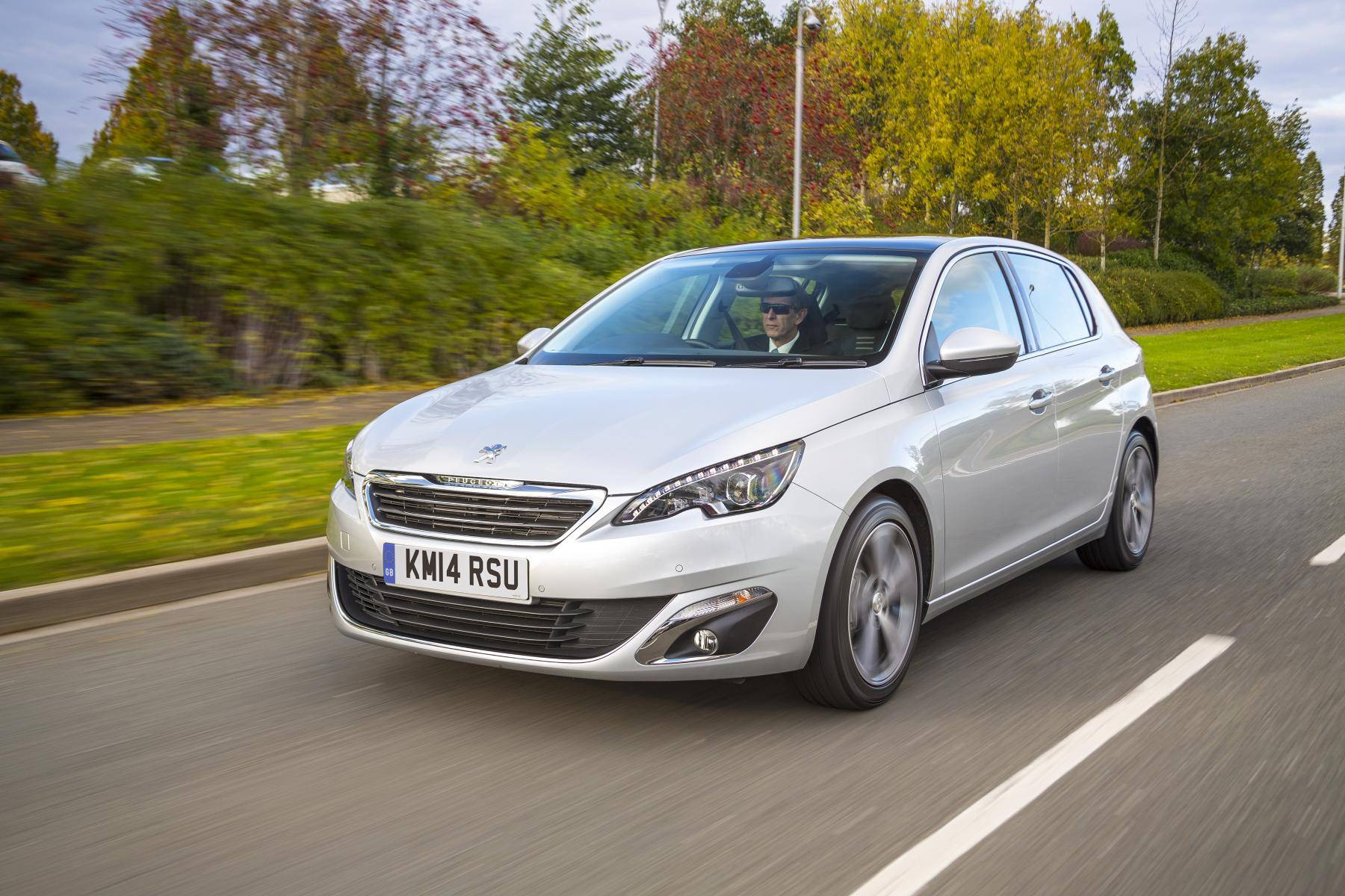 image of a silver peugeot 308 car exterior