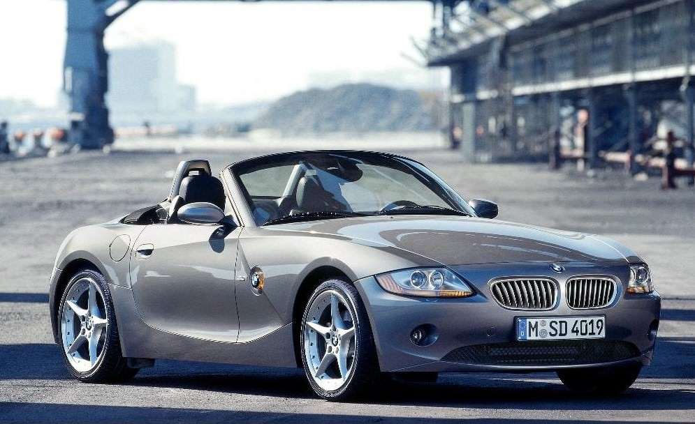 image of a silver bmw z4 convertible car exterior