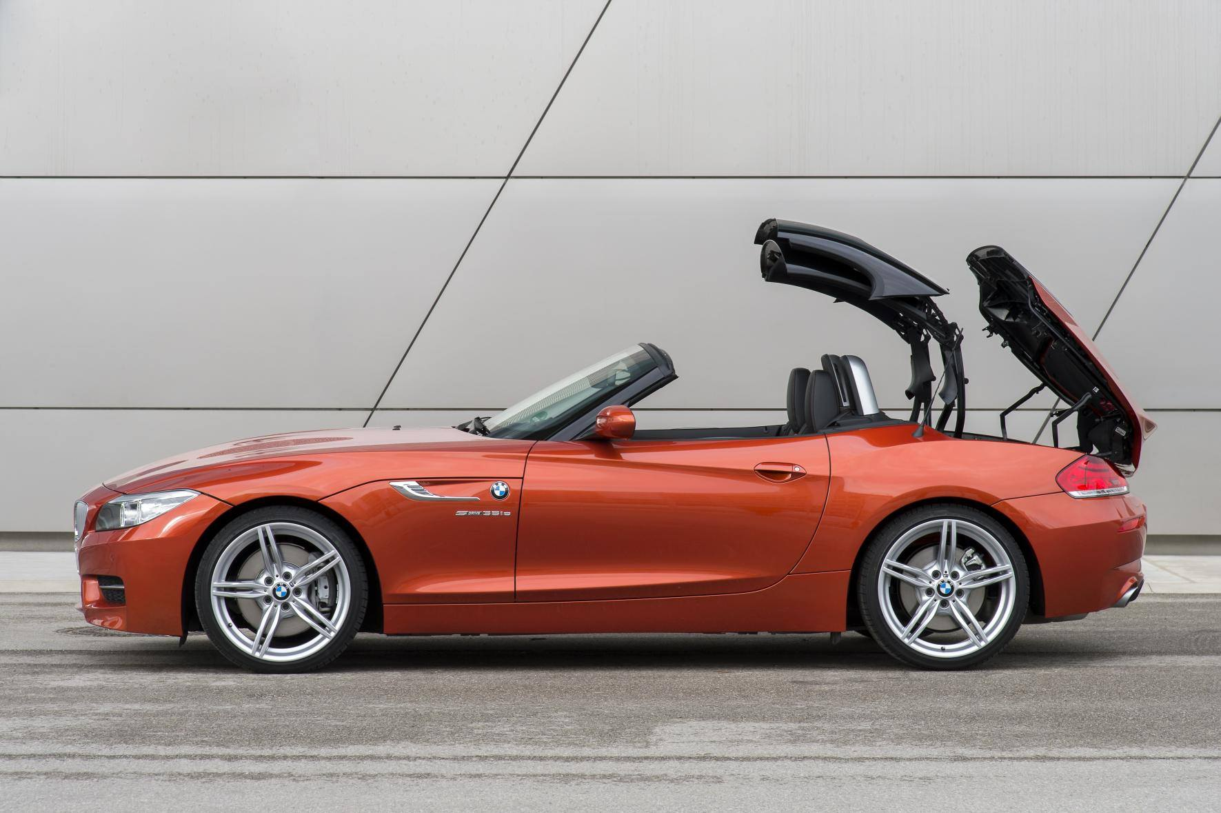 image of an orange bmw z4 convertible car exterior