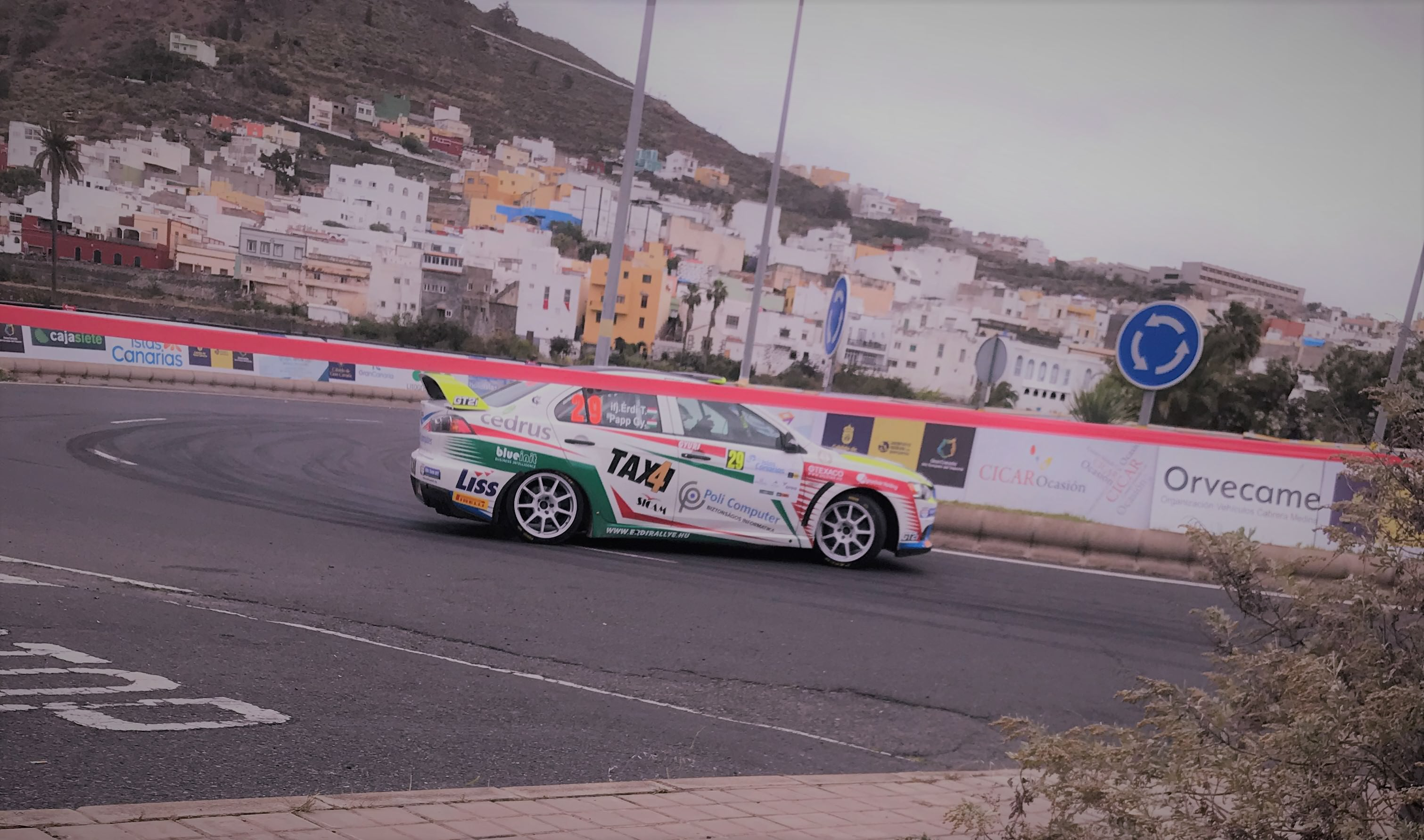 action in SS12 Arucas of the ERC Rally Islas Canarias