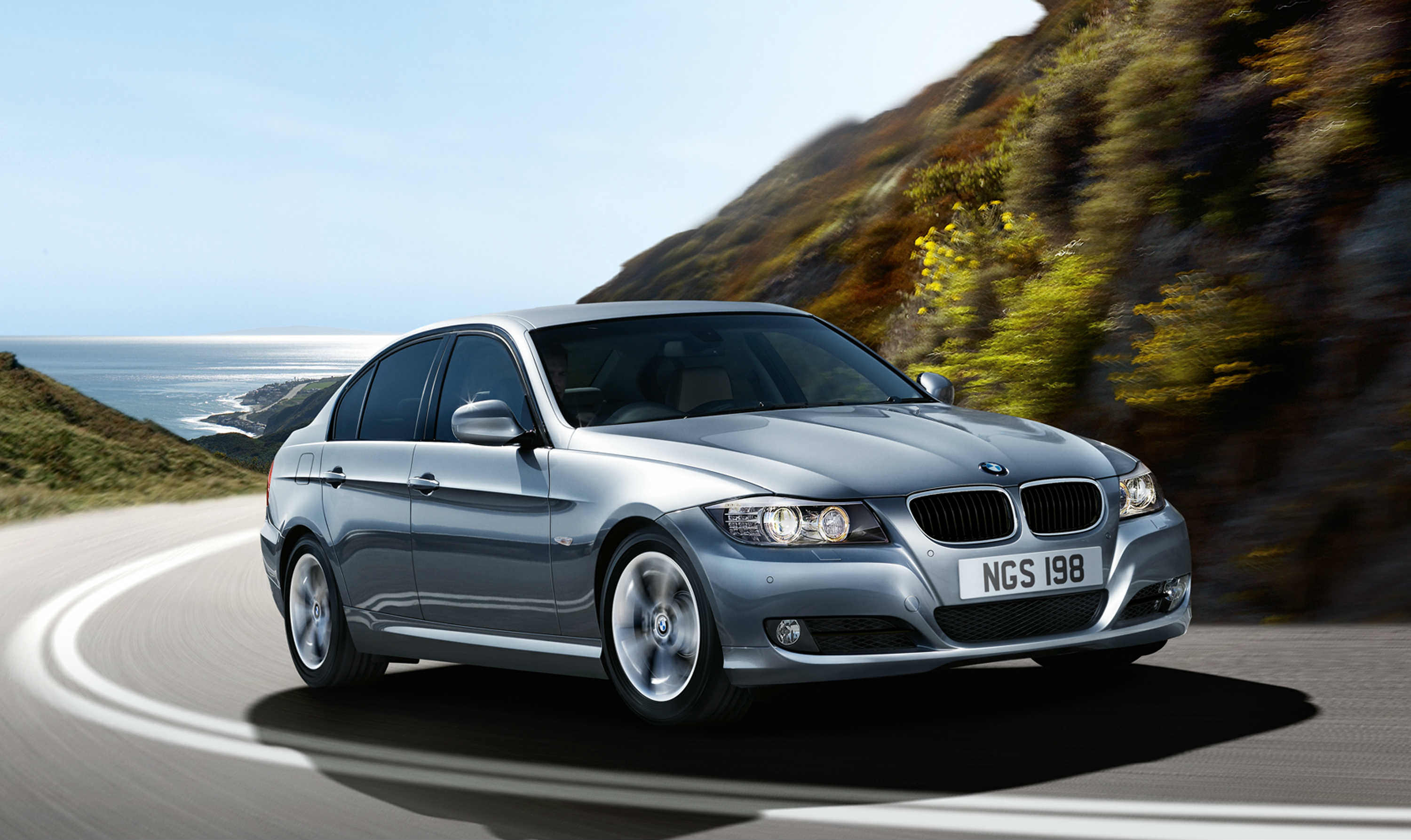 Silver BMW series 3 recall car