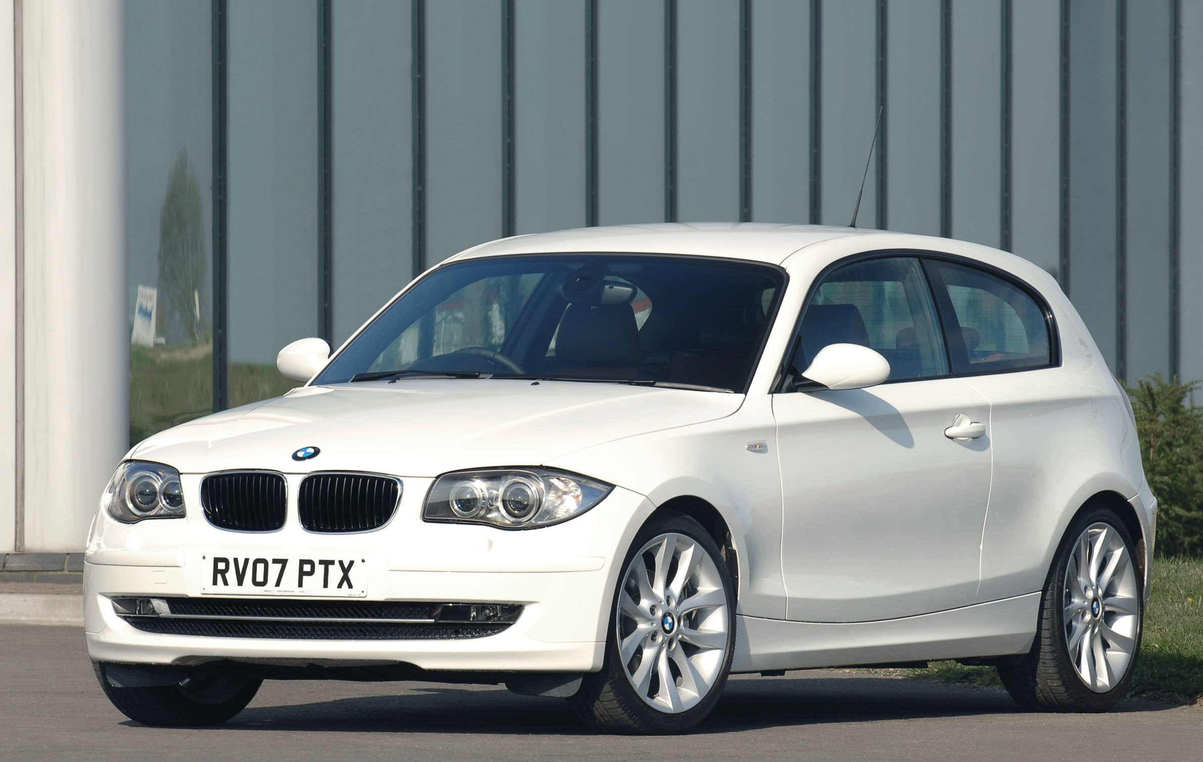 White BMW recall car