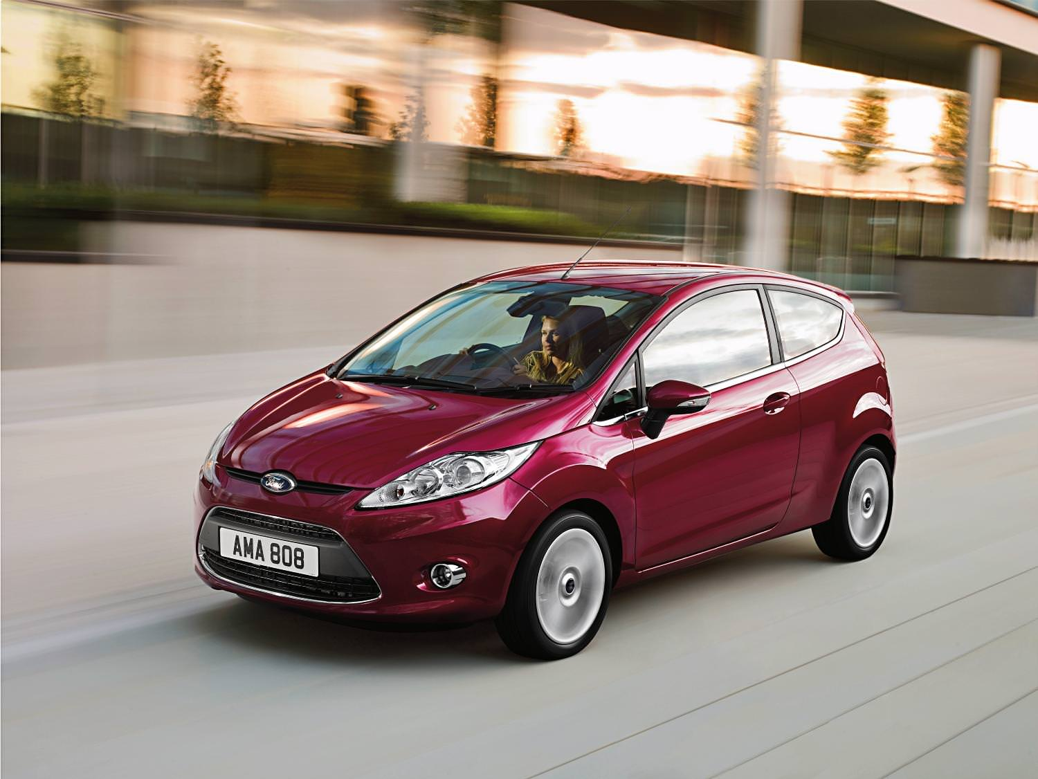 Used Ford Fiesta driving at speed