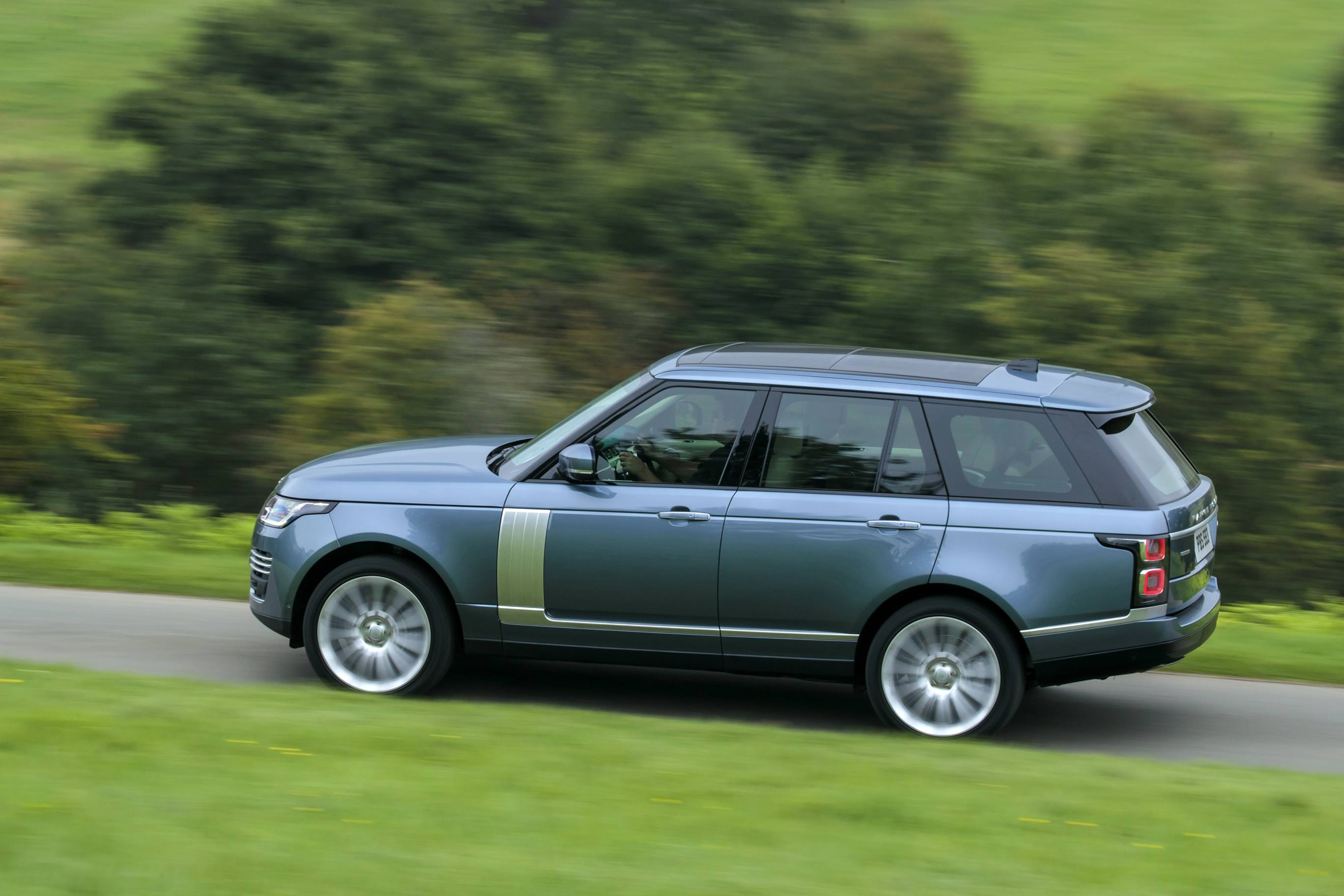 image of a grey land rover car exterior