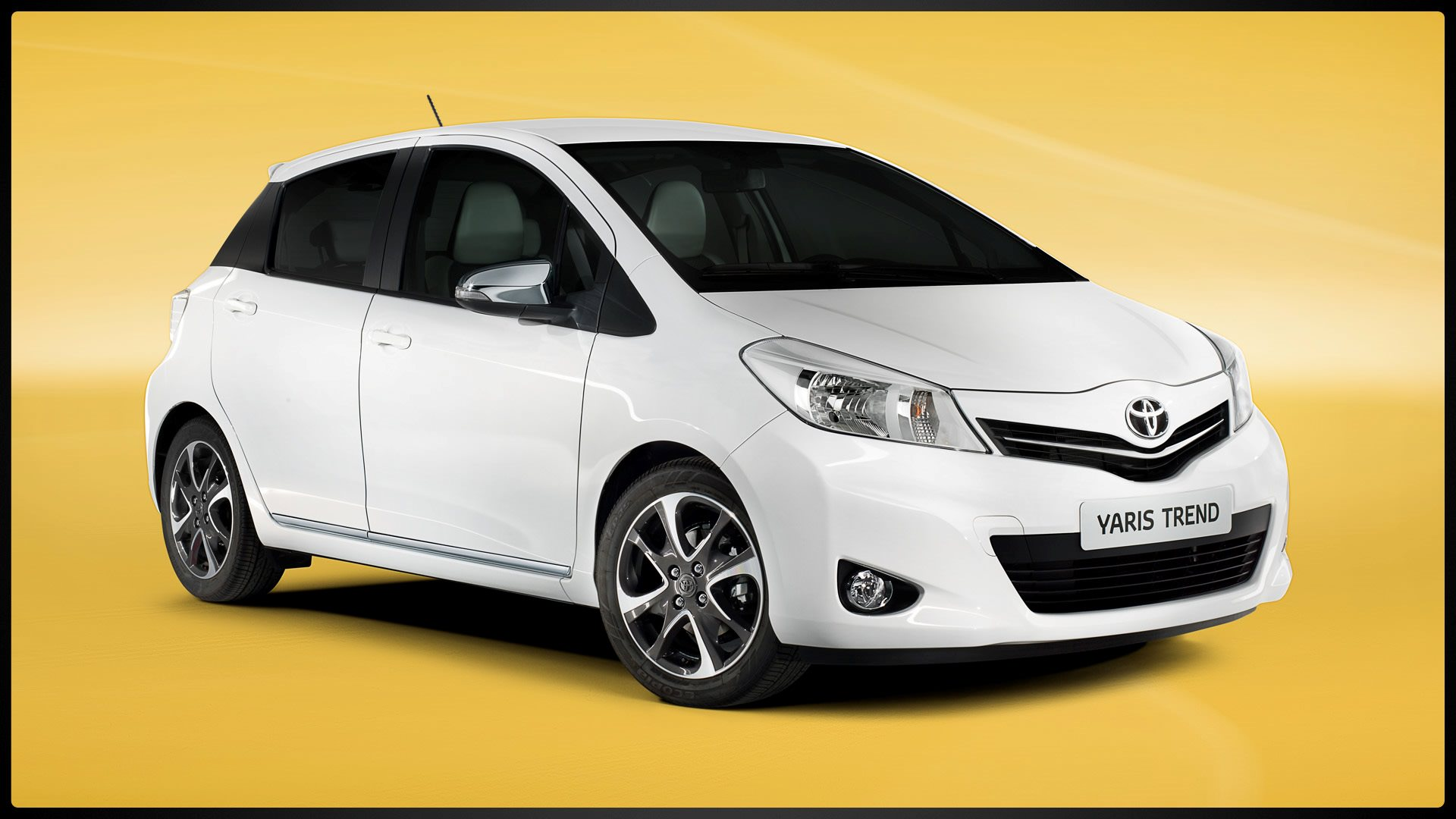 White Toyota Yaris a national best selling car