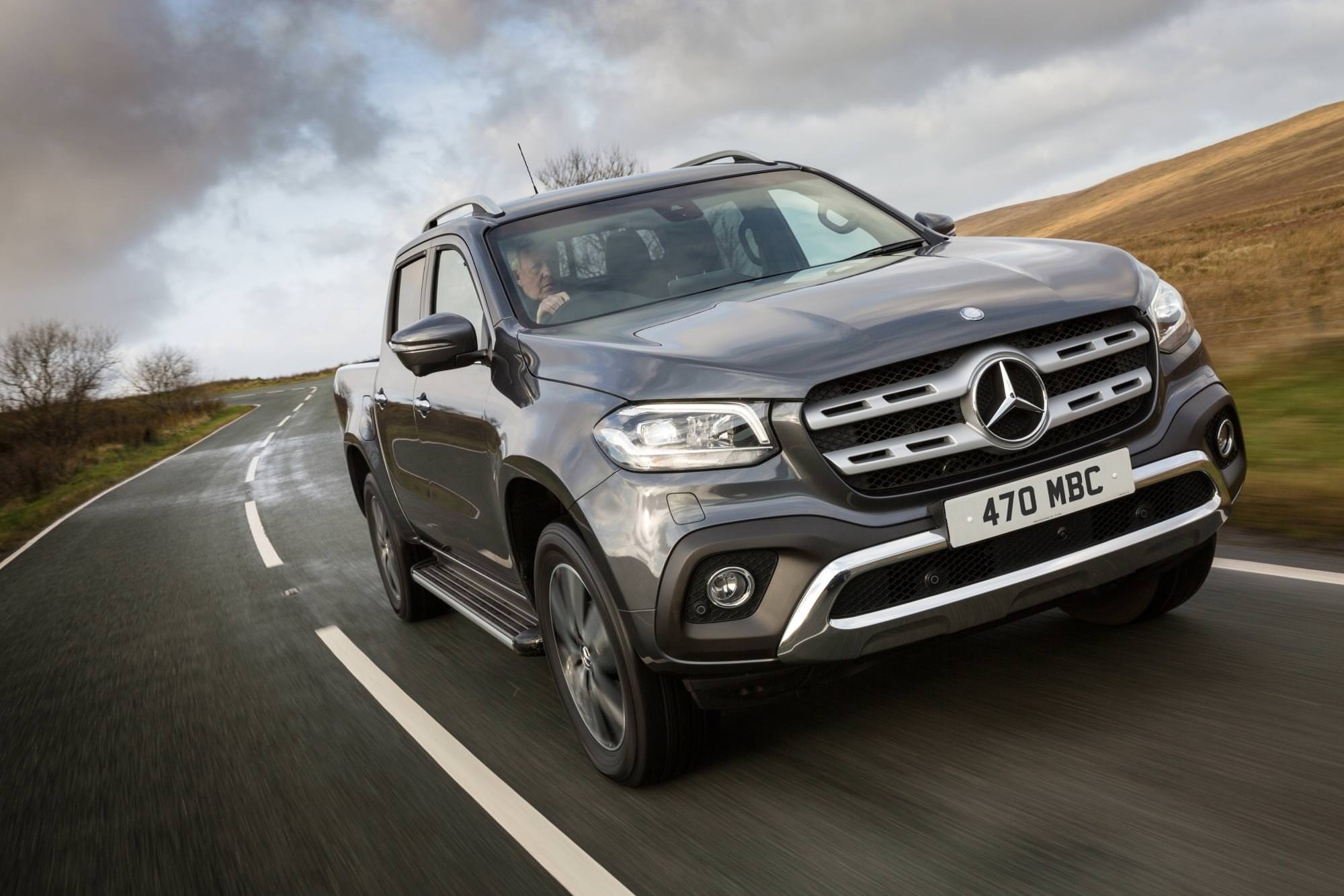 image of a grey mercedes-benz x class car exterior