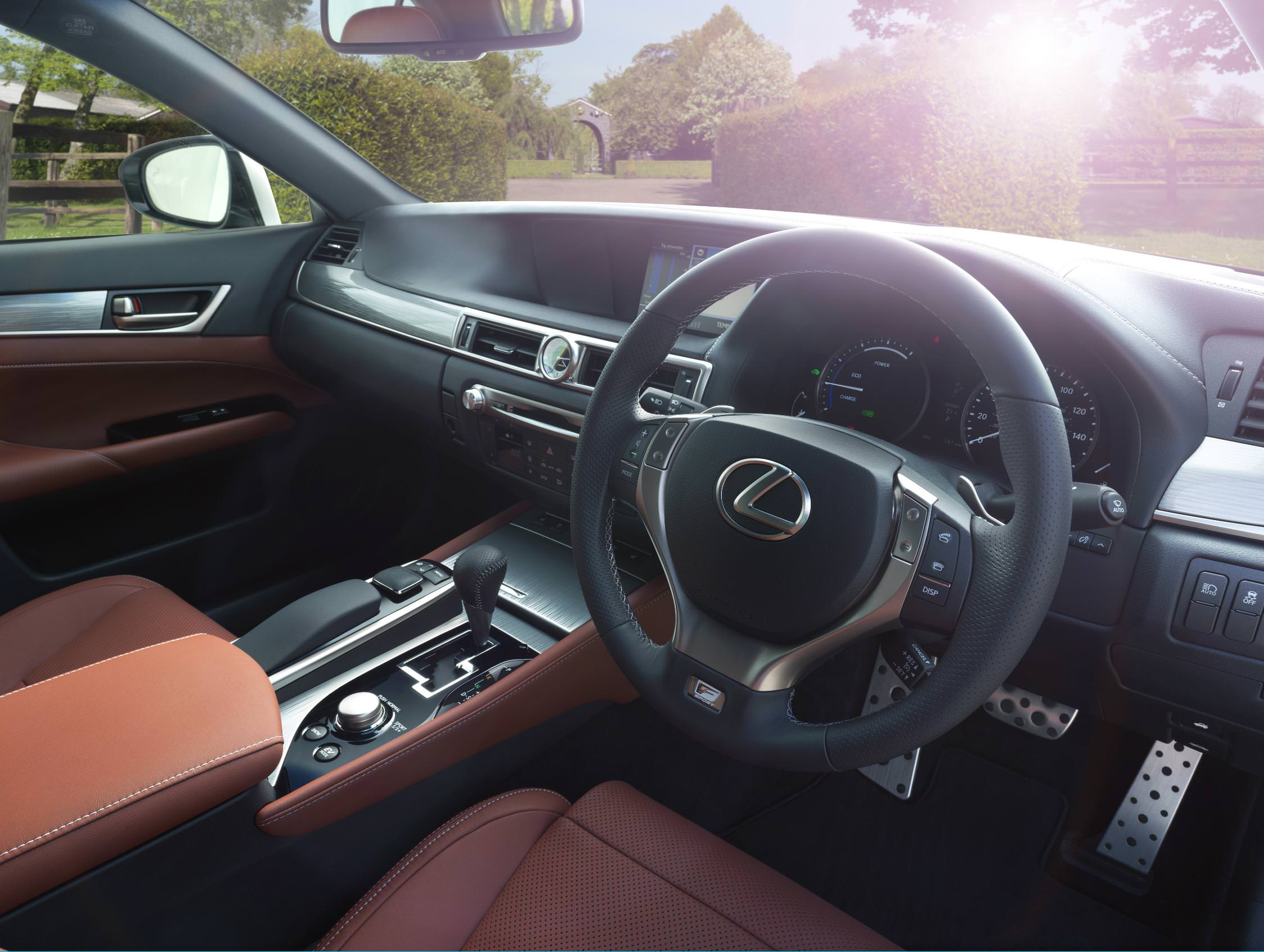 image of a lexus car interior