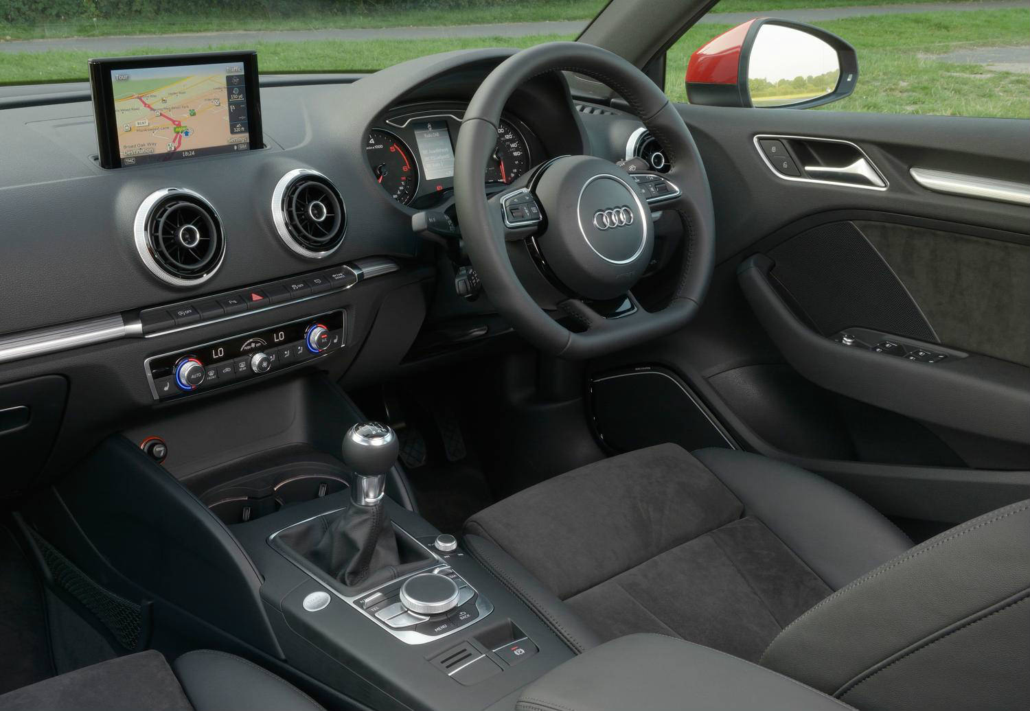 image of an audi a3 car interior