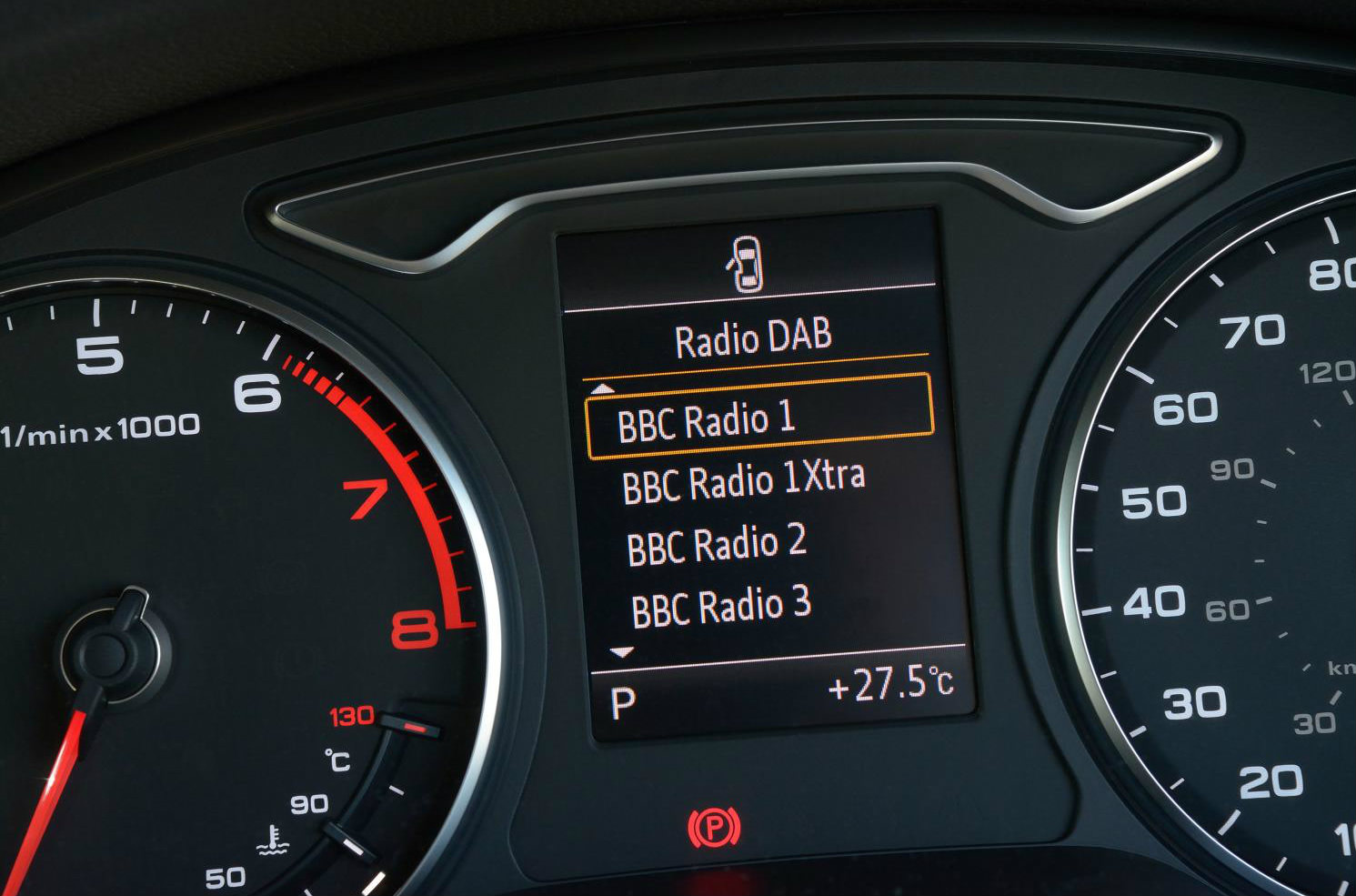 image of an audi a3 dashboard