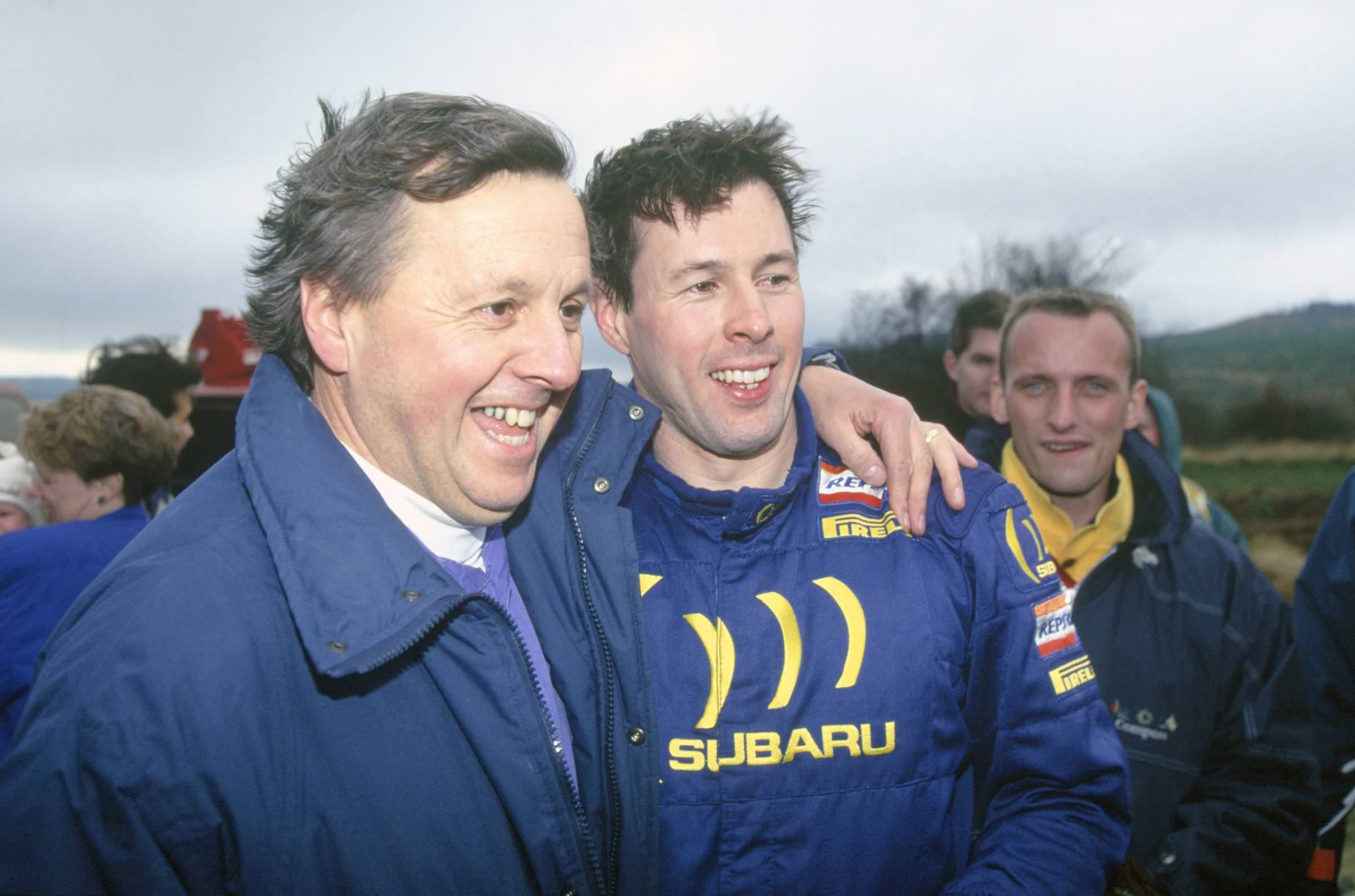 image of jimmy mcrae with rally champion driver son colin mcrae