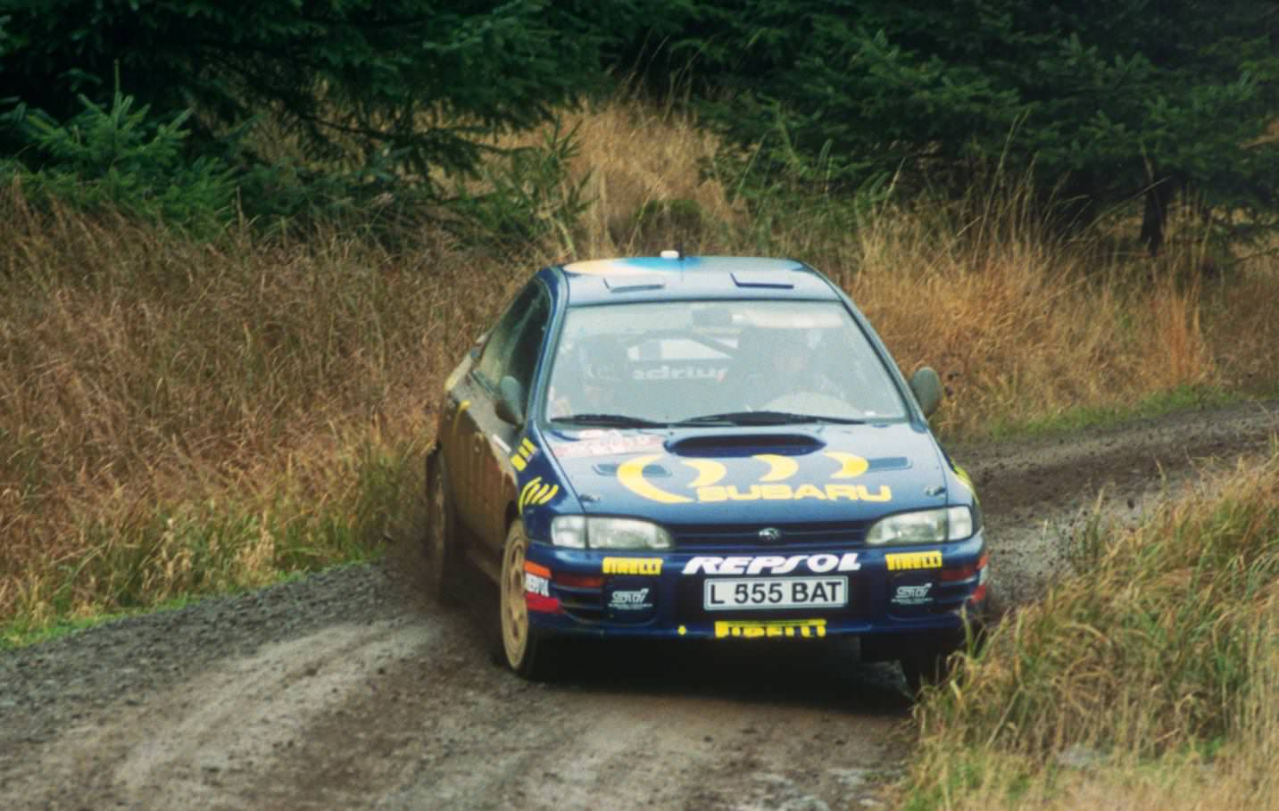image of colin mcraes rally car during the 1995 world rally championship