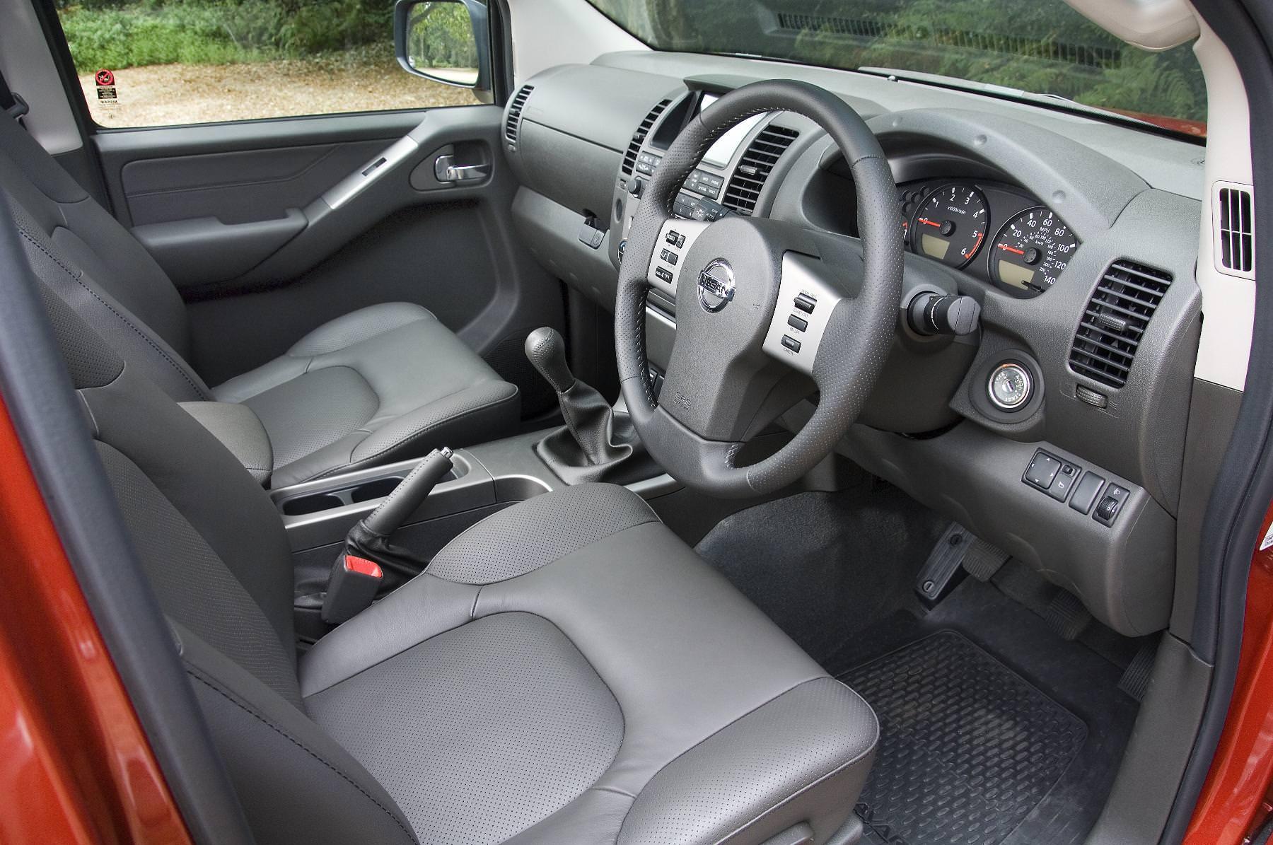 Nissan Navara drivers seat interior