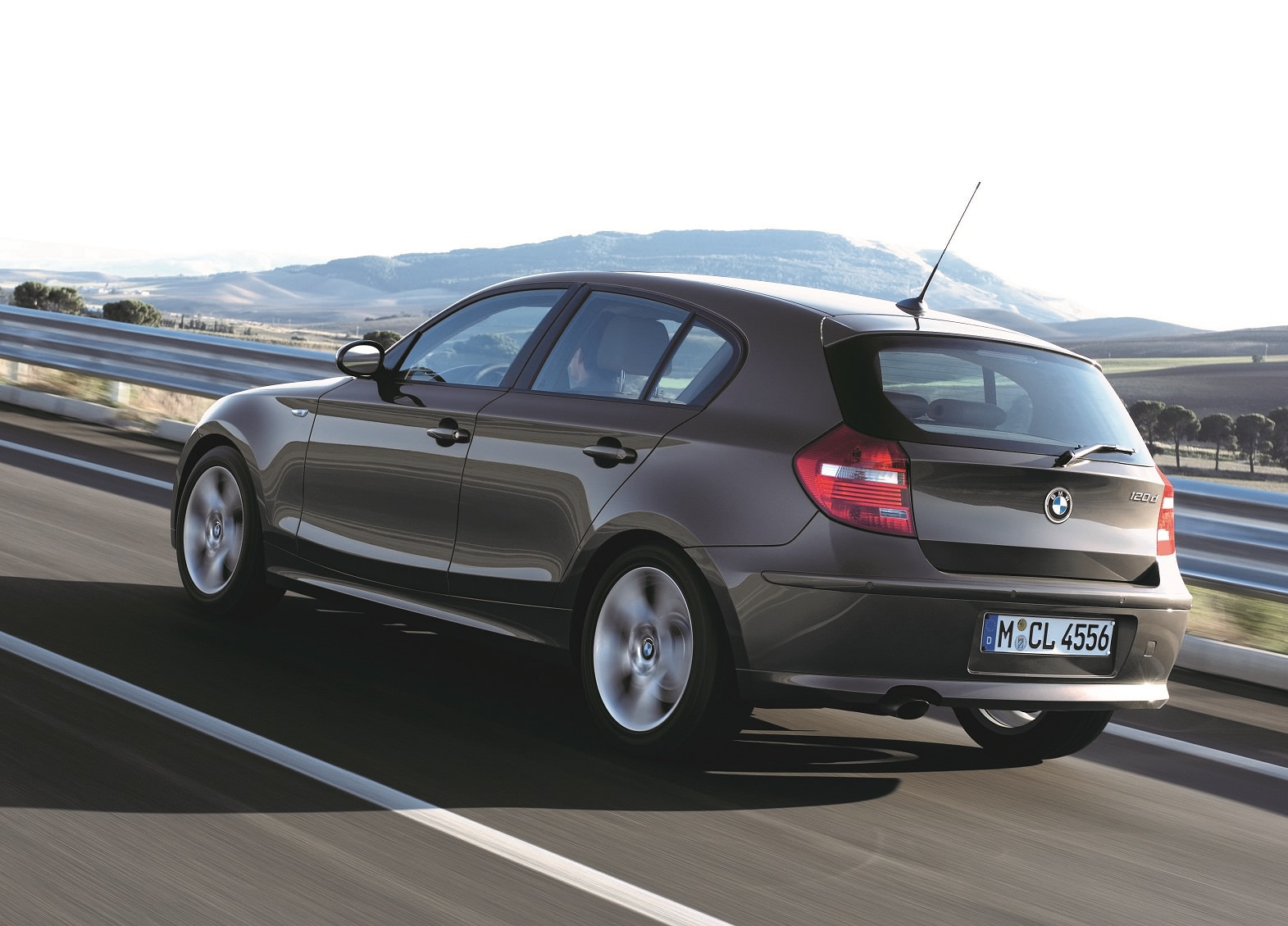 BMW 1 Series on the road