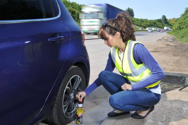 Is it safe to have a punctured car tyre repaired?