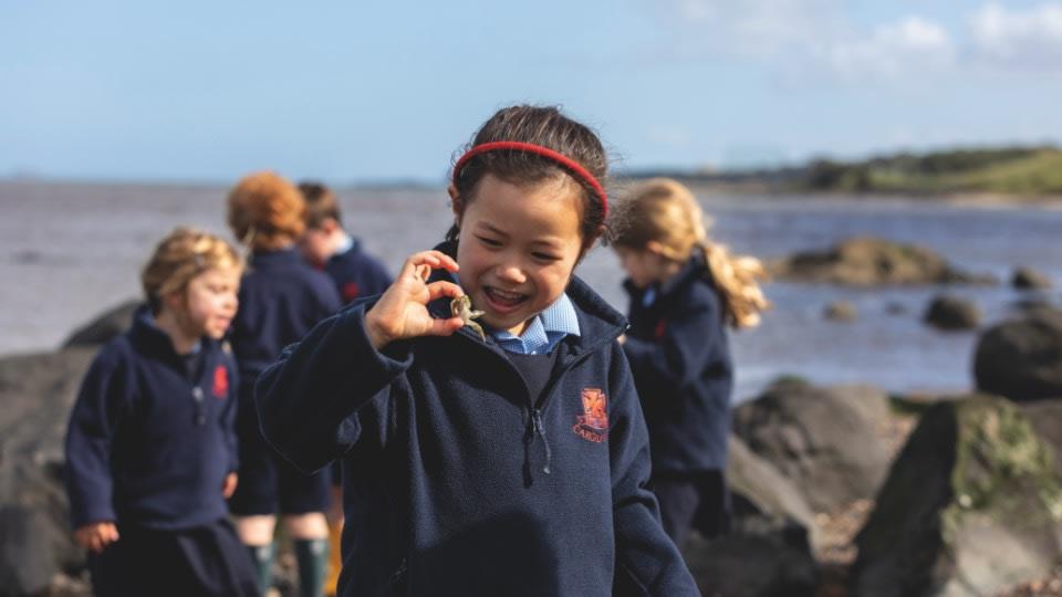Cargilfield prep school by the beautiful shore-line of Cramond