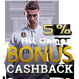 bonus cashback 5%