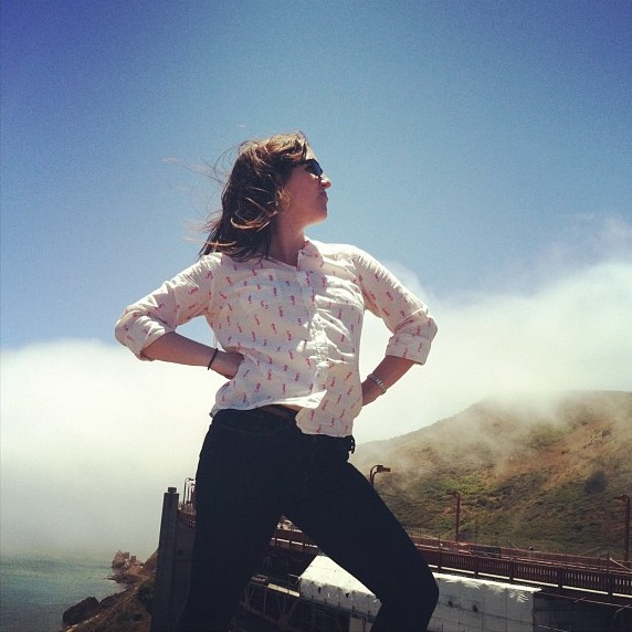 Cari Westbrook at the Golden Gate Bridge