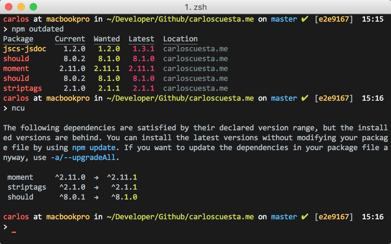 npm dependencies up to date
