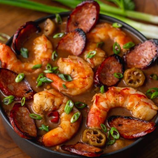 Andouille & Shrimp Gumbo made w/ Carlton Farms Sausage