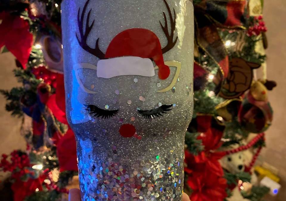 Reindeer Personalized Tumbler