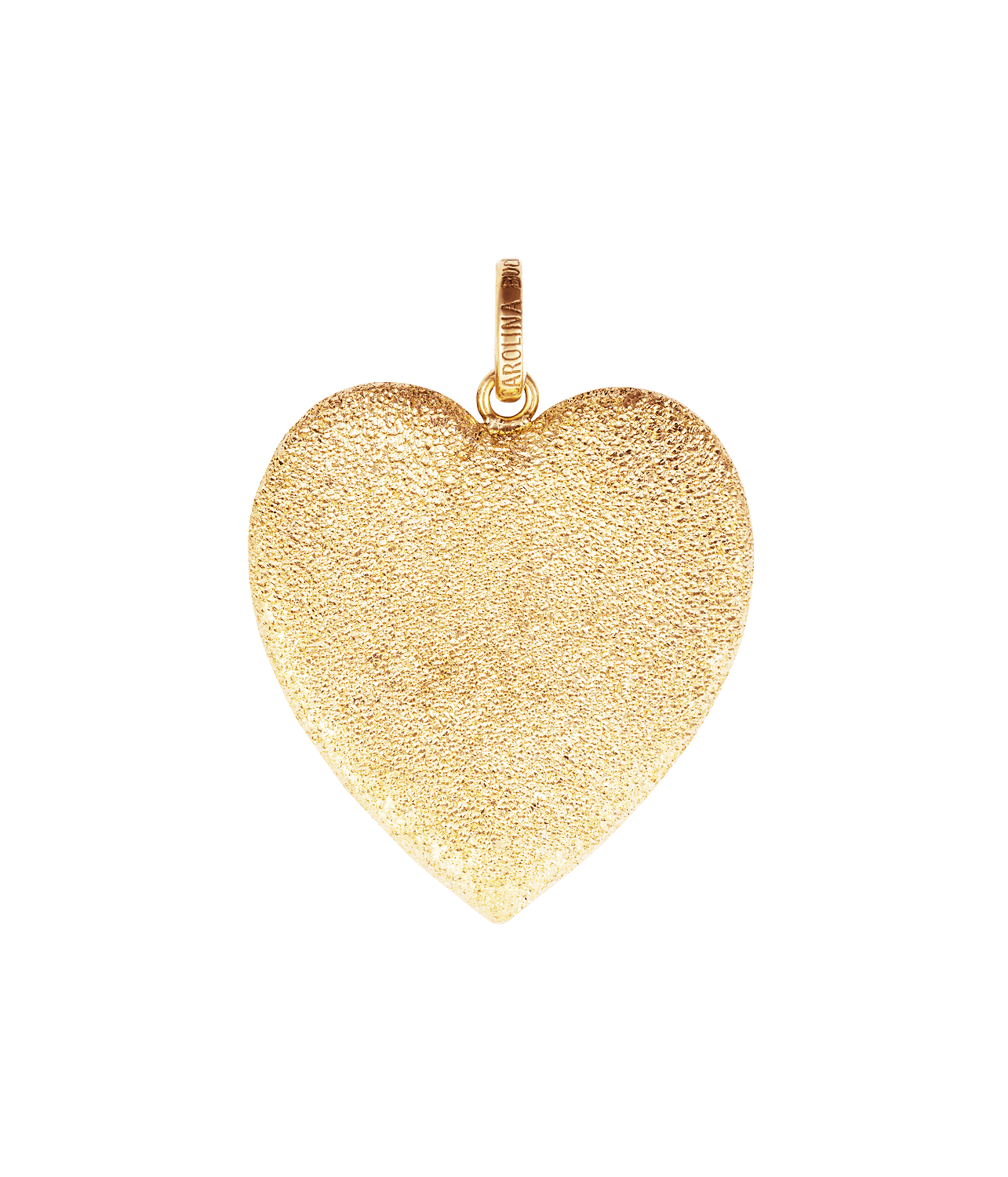 Carolina Bucci Florentine Finish Cuore Pendant Yellow Gold