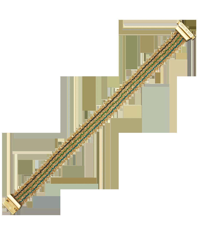 Carolina Bucci Striped 1cm Woven Bracelet