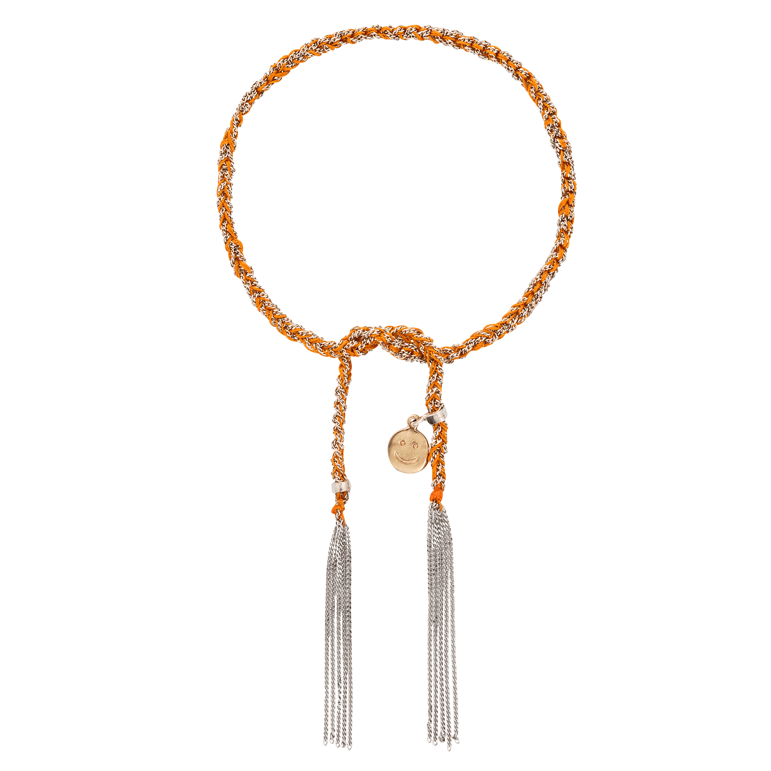 Carolina Bucci Lucky Bracelet with Happiness Charm White Gold
