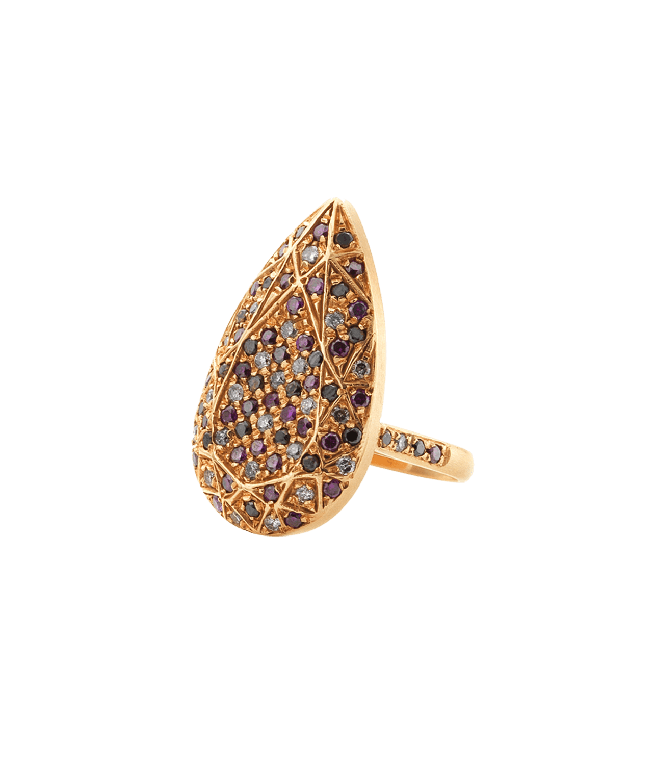 Carolina Bucci Pavé Pear Cut Ring