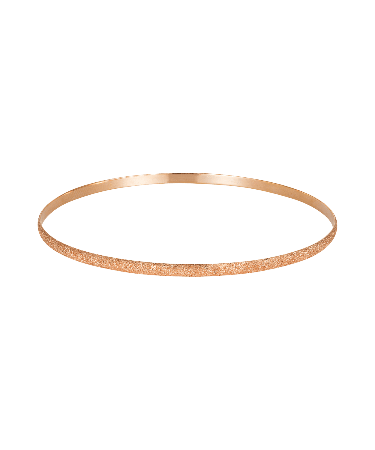 Carolina Bucci Florentine Finish Flat Bangle Pink Gold
