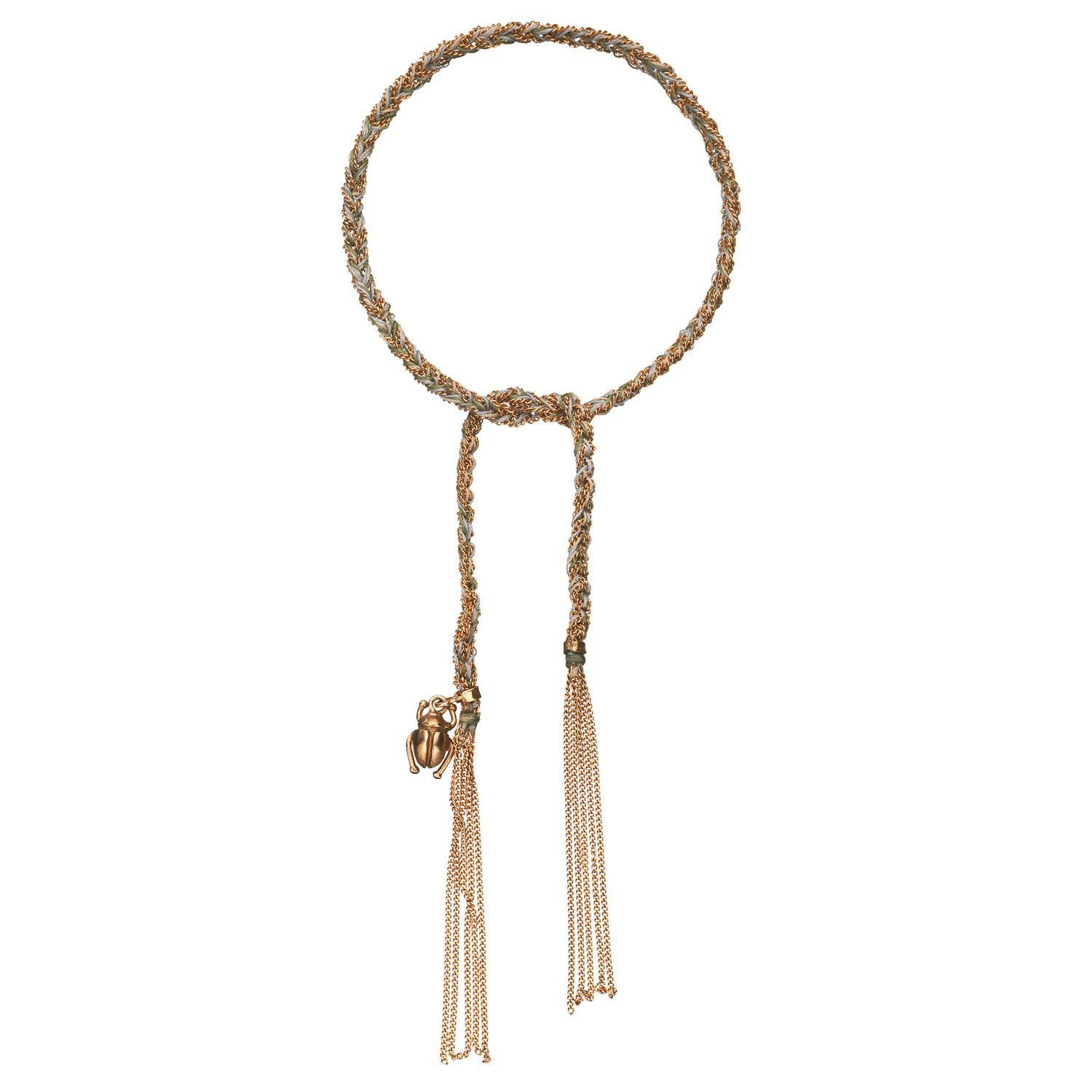 Carolina Bucci Lucky Bracelet with Strength Charm Pink Gold