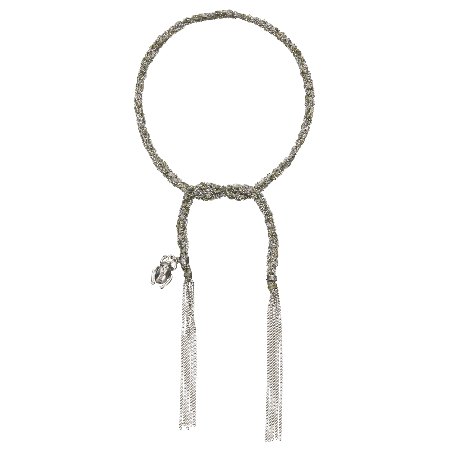 Carolina Bucci Lucky Bracelet with Strength Charm White Gold