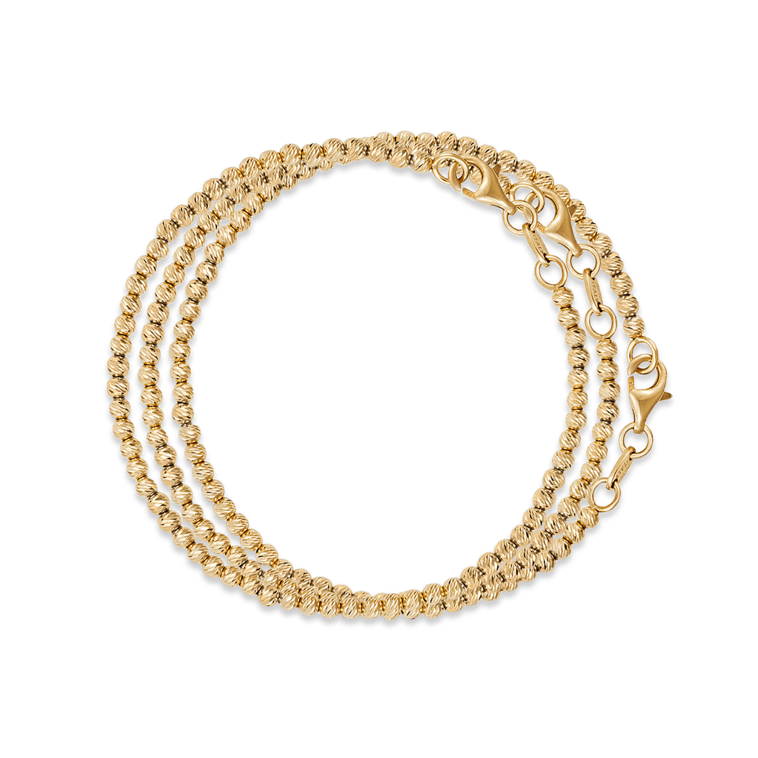 Carolina Bucci Discoball Bracelets Yellow Gold