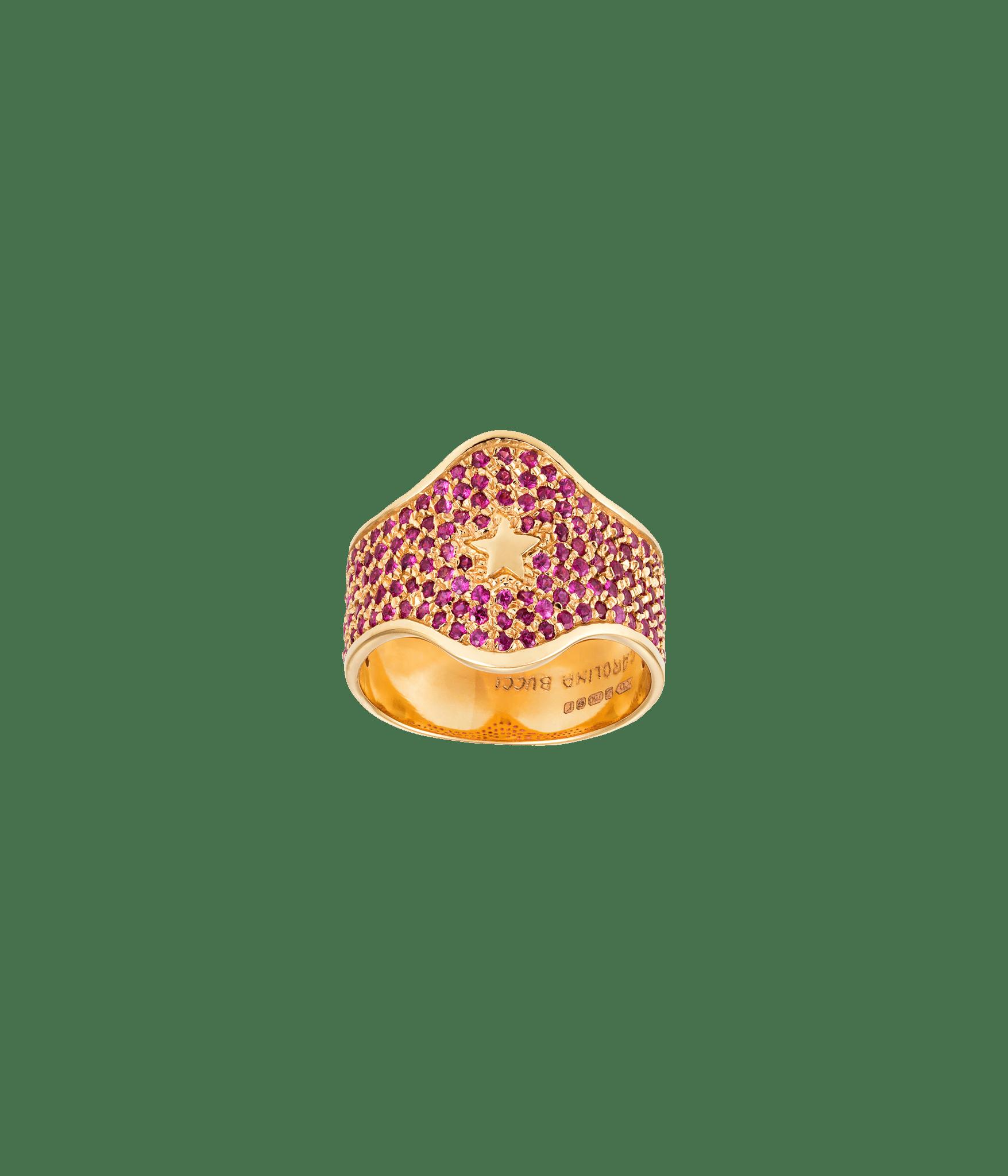 Carolina Bucci Pavé Shield Ring