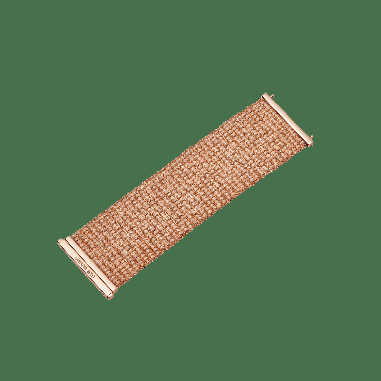 pink gold beaded woven bracelet
