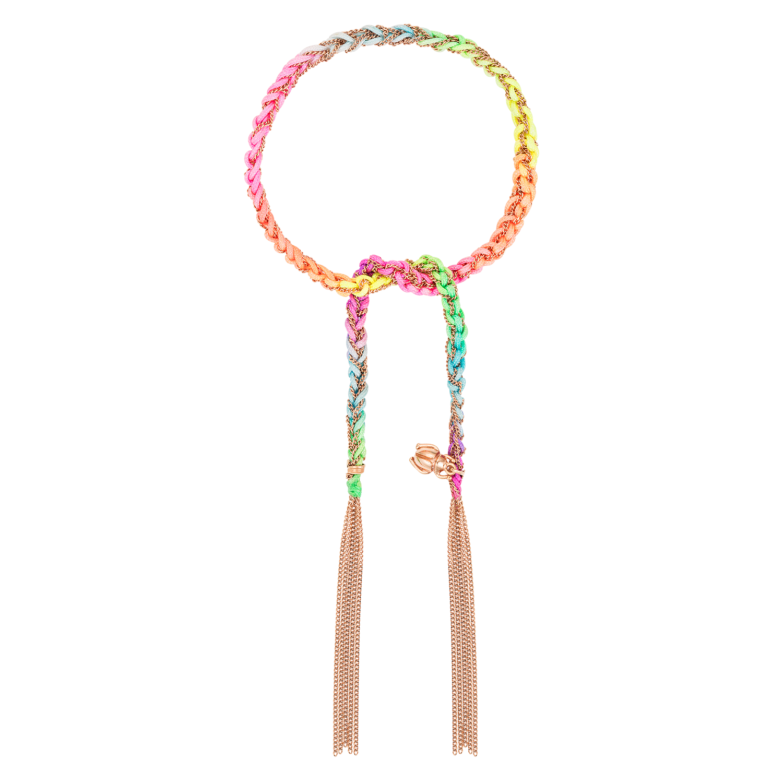 Carolina Bucci Neon Lucky Bracelet with Strength Charm Pink Gold