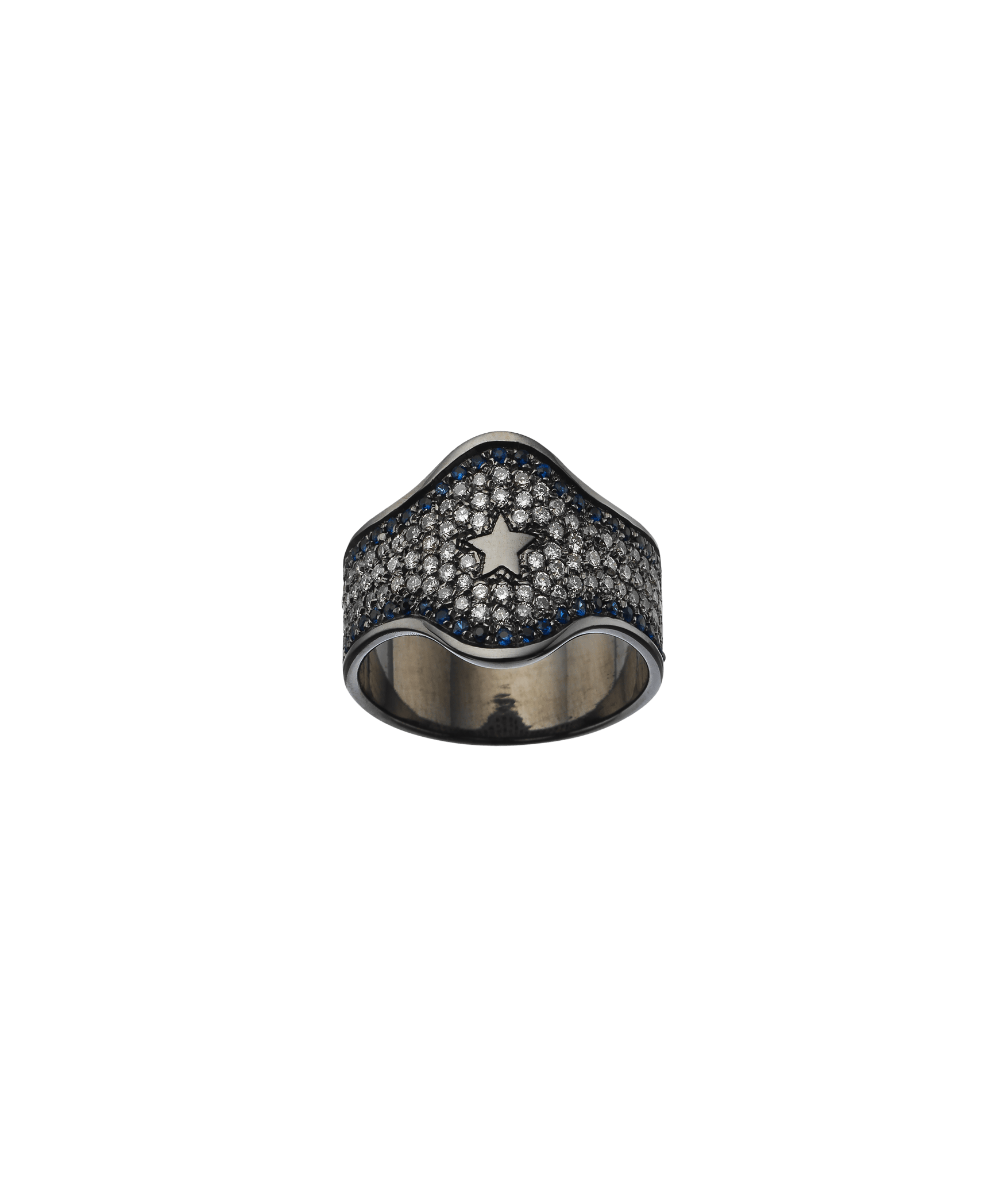 Carolina Bucci Winter Pavé Shield Ring Winter Pavé