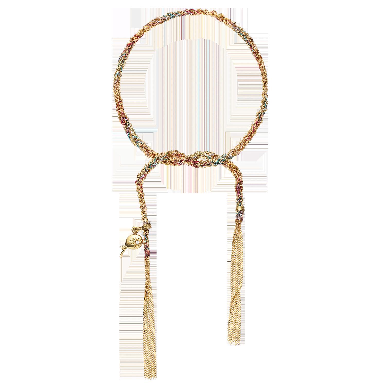Carolina Bucci Lucky Bracelet with Celebration Charm Yellow Gold