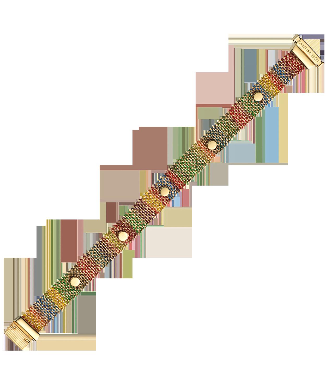 Carolina Bucci Studded Woven Bracelet XXV