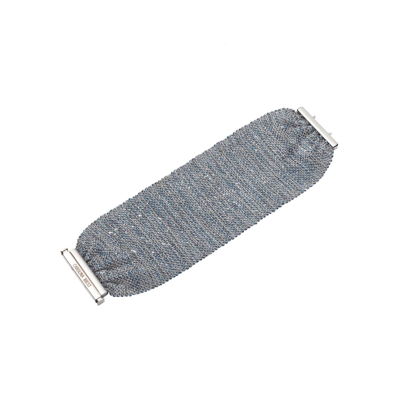denim pinched woven bracelet
