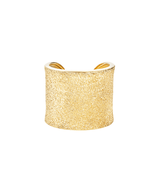 Carolina Bucci Florentine Finish Cuff Ring Yellow Gold