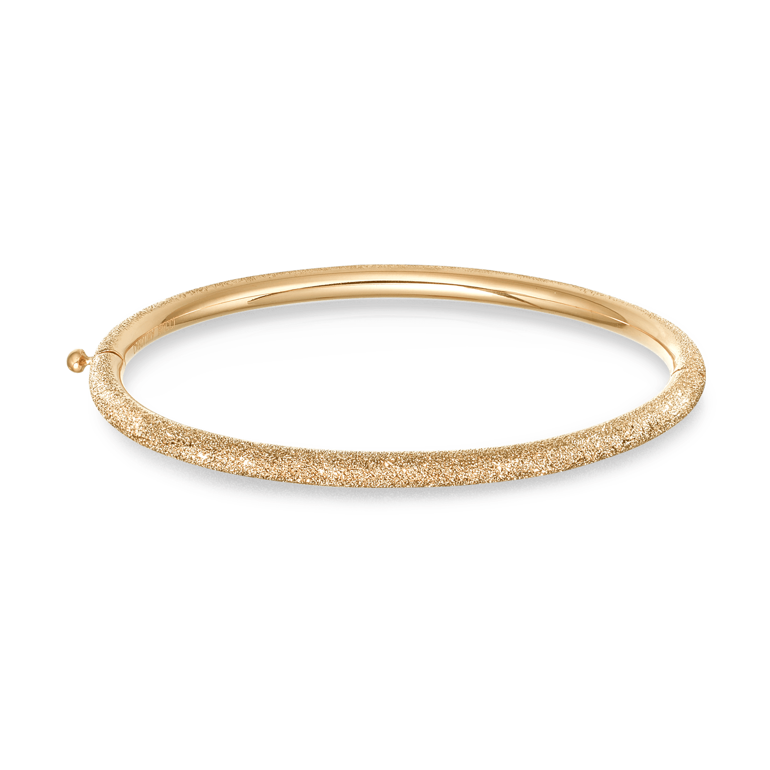 Florentine finish 18k gold bangle
