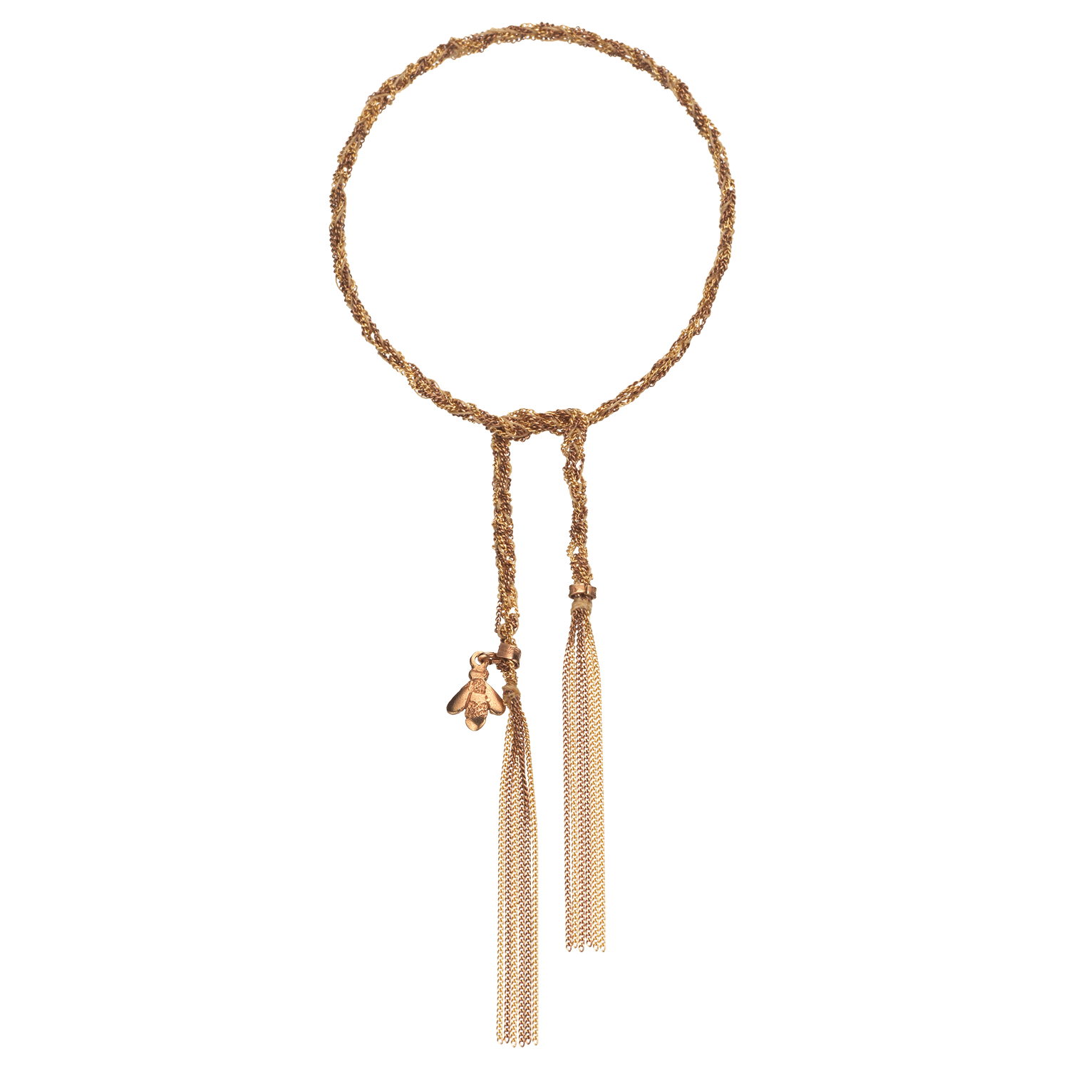 Carolina Bucci Lucky Bracelet with Virtue Charm Pink Gold