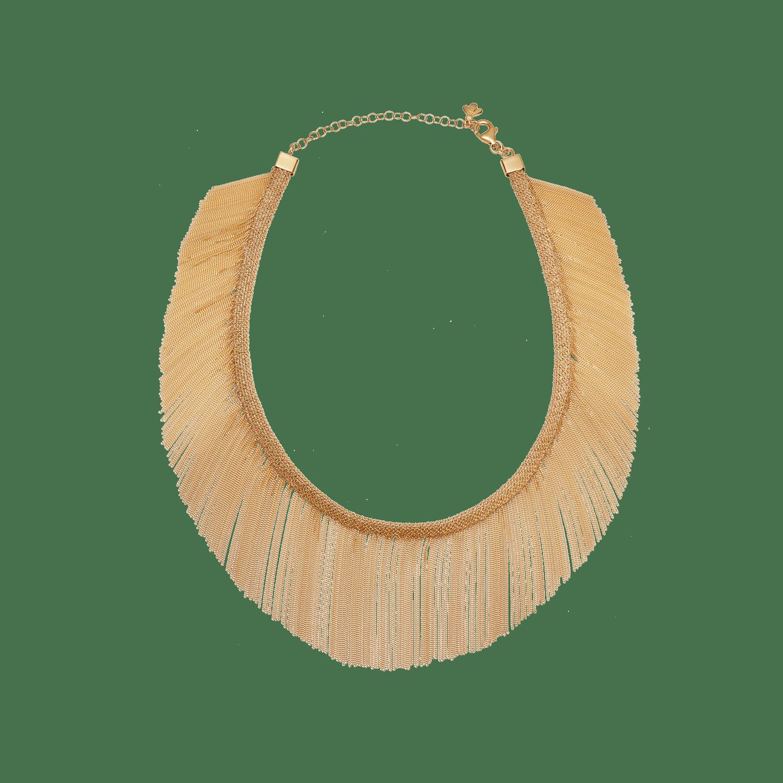 Woven Fringe Necklace