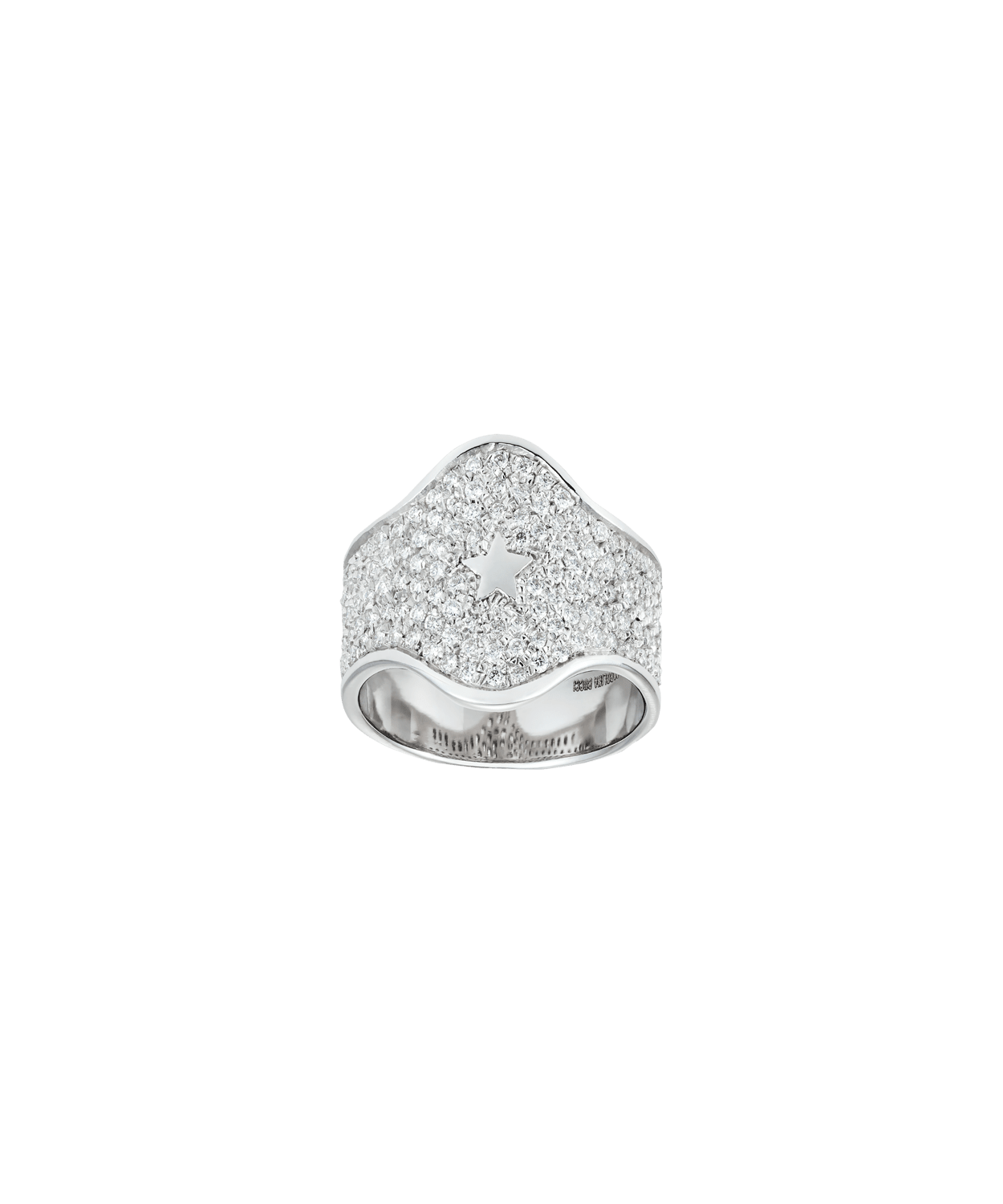 Carolina Bucci Diamond Pavé Shield Ring
