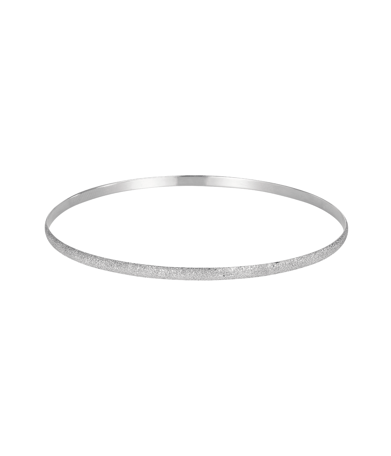 Carolina Bucci Florentine Finish Flat Bangle White Gold
