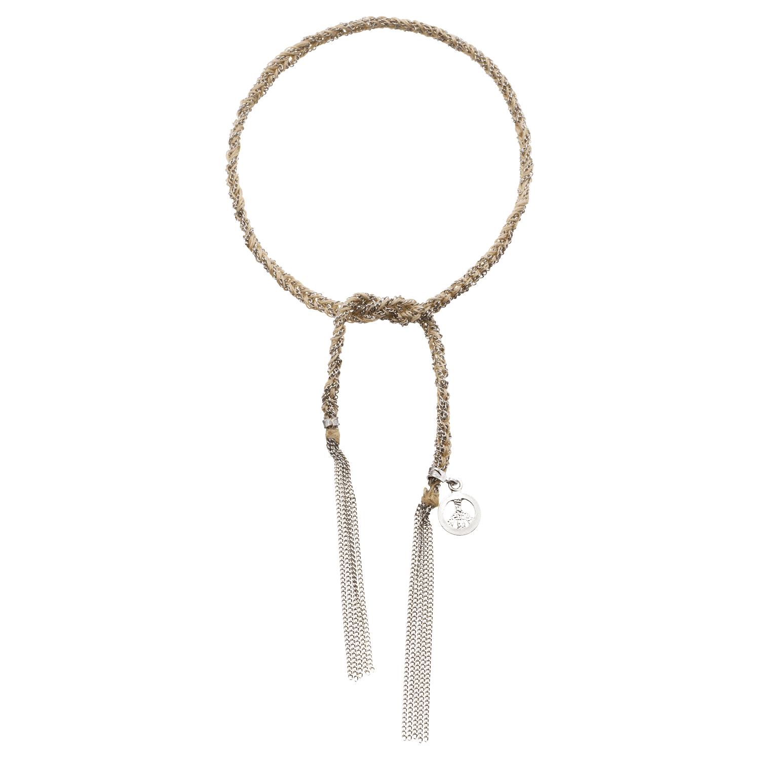 Carolina Bucci Lucky Bracelet with Peace Charm White Gold