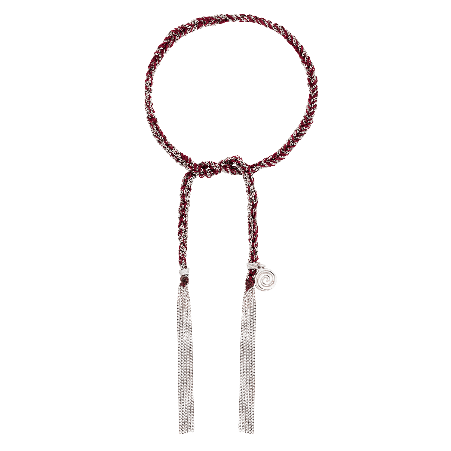 Carolina Bucci Lucky Bracelet with Passion Charm White Gold