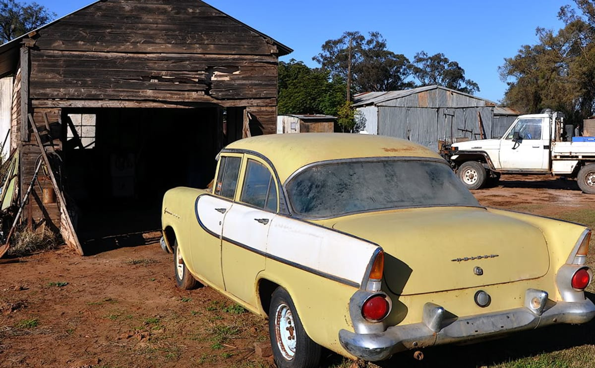 The FB Had Been Parked Up For 28 Years In Her Familys Shed Image Credit Survivor Car Australia Barn Finds
