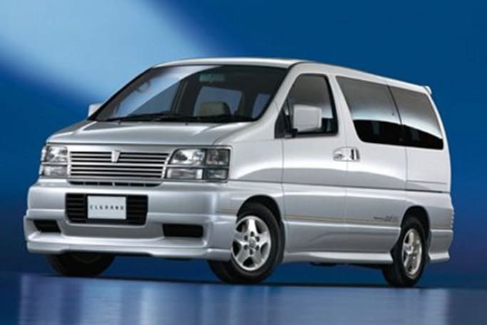 there have been three generations of the nissan elgrand people mover,  beginning with the e50