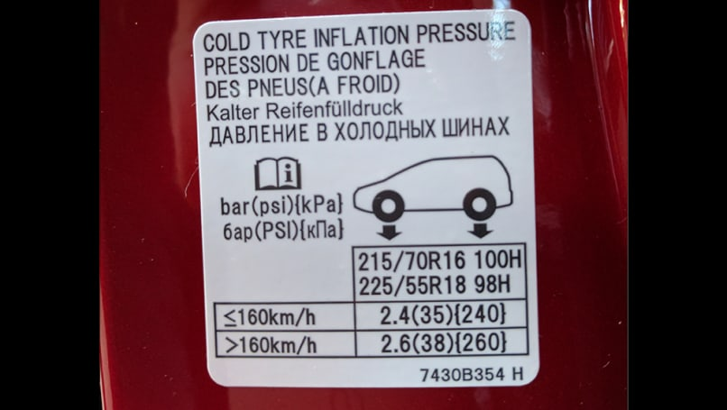 Mitsubishi Outlander Tyre Pressure Carsguide